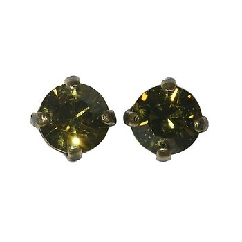 Image For Earring Stud Black Jack Green Khaki Ss 29