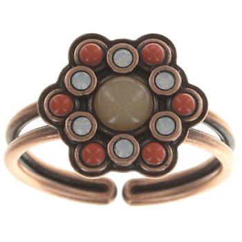 Bild Für Ring Mandala Braun Grün