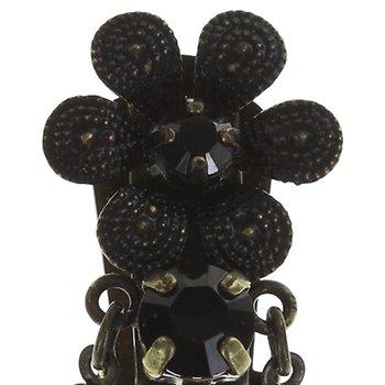 Konplott earring clip dangling chandelier earrings black image for earring clip dangling chandelier earrings black aloadofball Choice Image