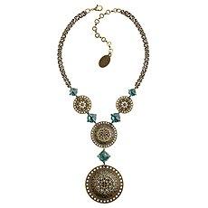 Bild Für Necklace Y Ice Rosone Green Size 2xl L M Antique Brass