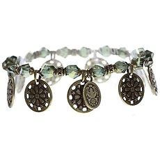 Bild Für Necklace Anklet Ice Rosone Green Size Xs Antique Brass Hang In